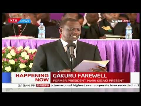 DP Ruto reads former President Mwai Kibaki's condolence message to the late Governor Wahome