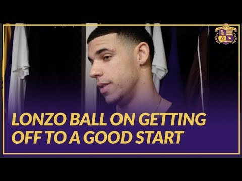 Lakers Post Game: Lonzo Ball Talks About the Importance of Starting The Game Off Strong