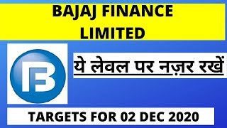Bajaj Finance Share News | Bajaj Finance Share Target for Tomorrow | Bajaj Finance Share (02/12/20)