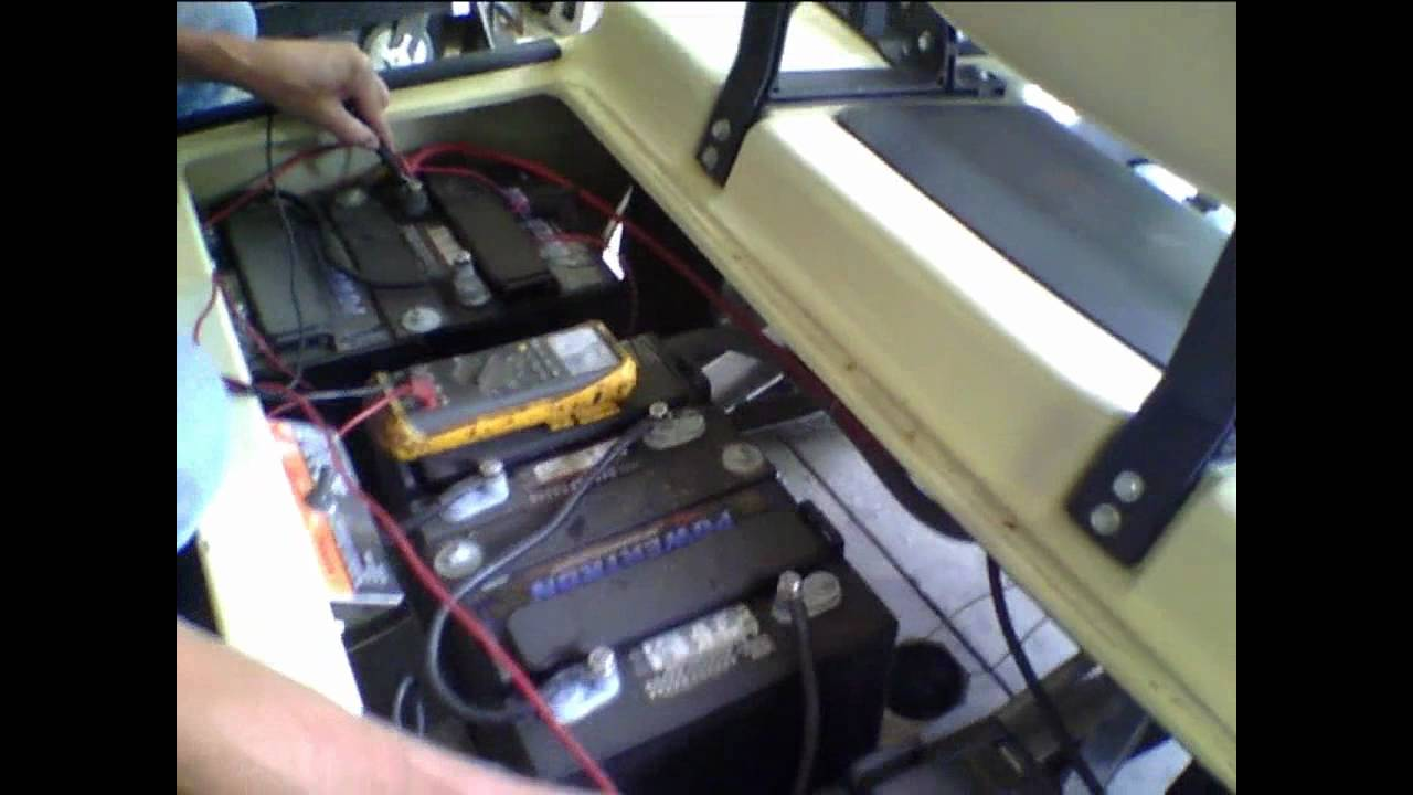 How to Install a Battery Meter on a Golf Cart  YouTube