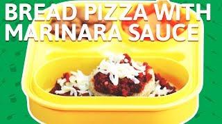 Cheese Bread Pizza | Bread Pizza with Marinara Sauce | Tomato Sauce Pizza For Kids