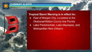 Tropical Storm Claudette Update