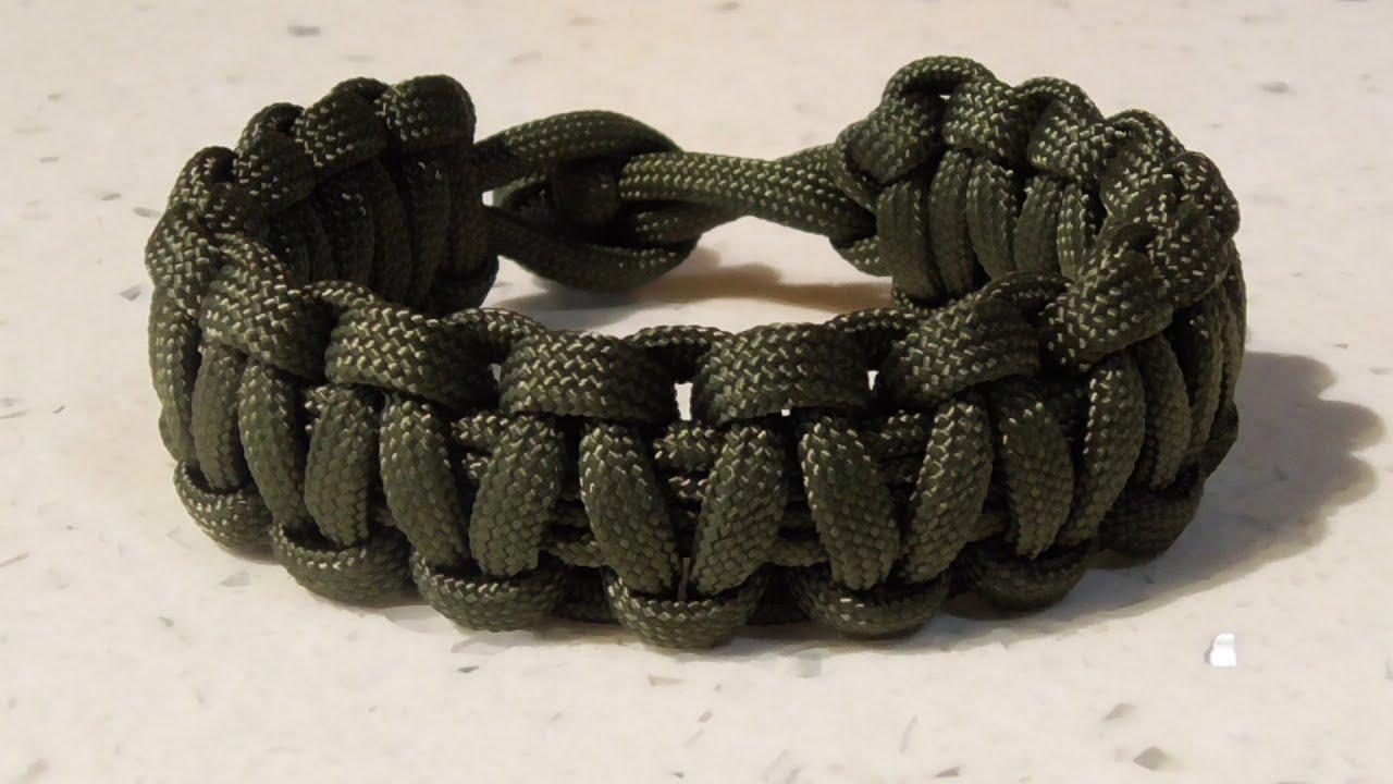 One Strand Cobra Weave Paracord Survival Bracelet No