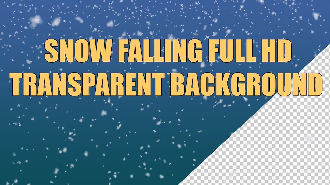 snow falling full hd transparent background free youtube