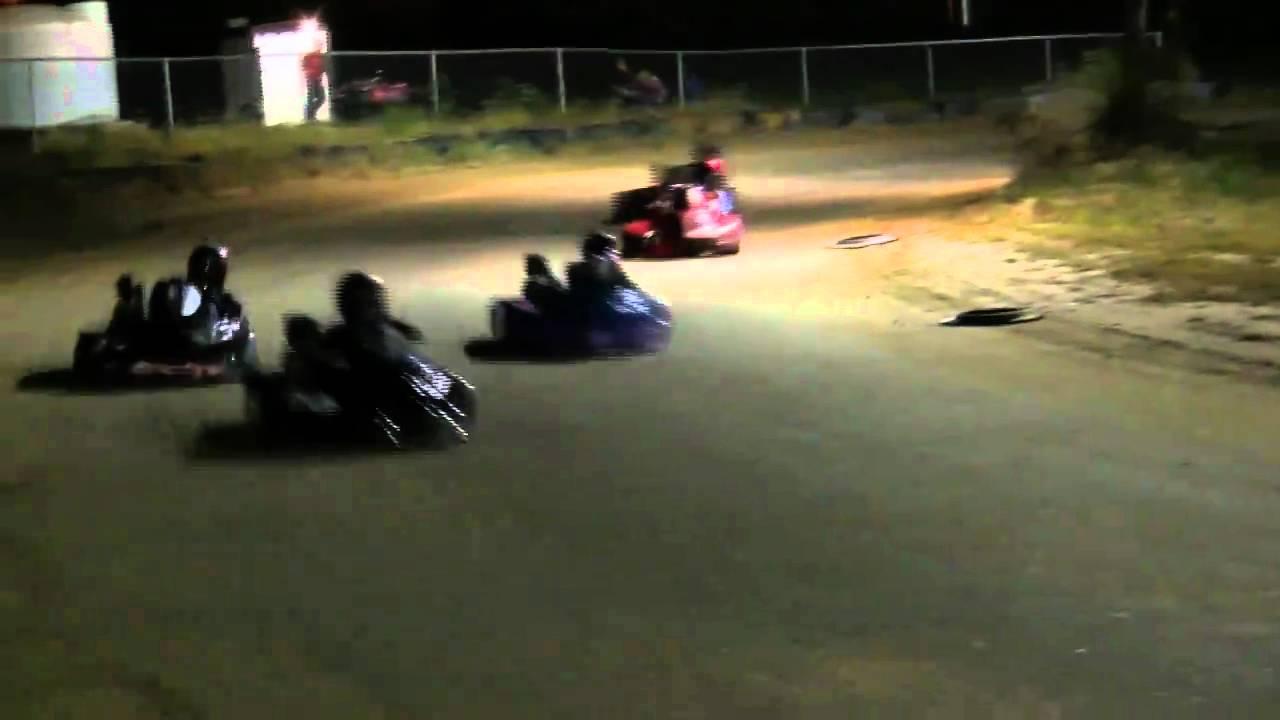 Dirt Track Oval Kart Racing Crash - North Vernon Indiana - YouTube