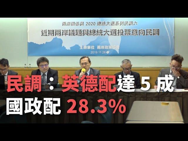 民調:英德配支持度達5成 國政配28.3%【央廣新聞】