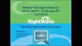 Webinar: Significantly increase the ROI of your marketing by improved Data Quality Governance