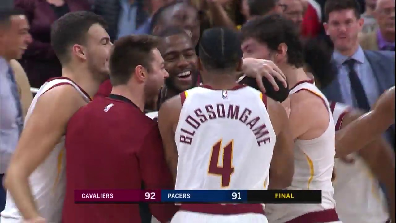 quality design 6b1e6 7e383 Cavaliers' Larry Nance Jr. Hits Game-Winning Tip In vs. Pacers