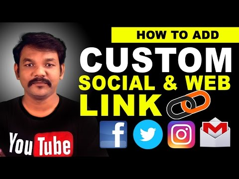 How To Add Custom Social & Web Links To Your YouTube in Tamil