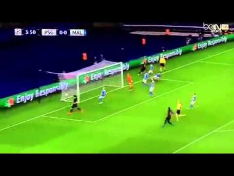 Angel Di Maria First Goal - PSG vs Malmo 1-0