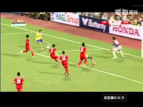 Miquel Goal!! Vietnam 0-7 Arsenal (friendly match)_17/07/2013