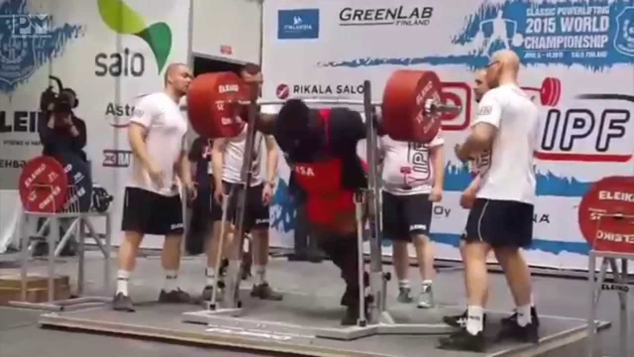 Ray Williams breaking the World SQUAT Record 425 5kg 938lb