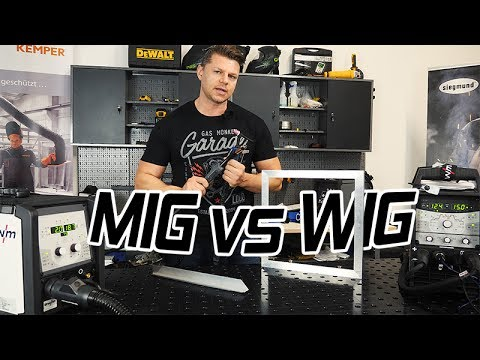 mig vs wig aluminium schwei en f r anf nger youtube. Black Bedroom Furniture Sets. Home Design Ideas