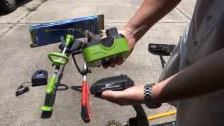 Comparison of My Cordless Battery Powered String Trimmers (18v) to My Gas Powered Weedeater (Ryobi)
