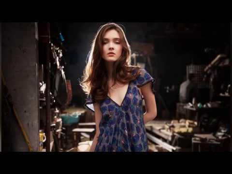 Europe and the United States temperament girls chiffon skirt fashion portrait