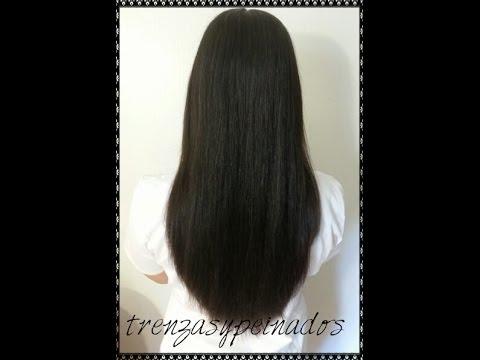 Corte de pelo ovalado largo