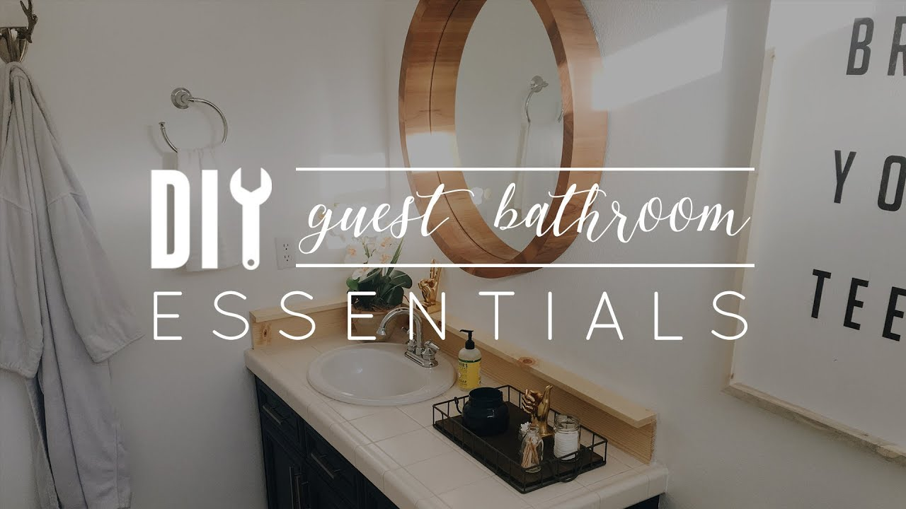 Bathroom Essentials Diy Guest Bathroom Essentials