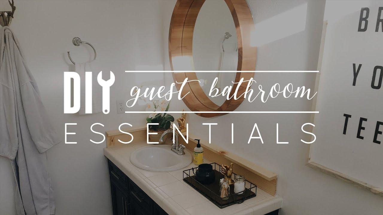 Diy Guest Bathroom Essentials