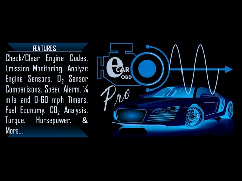 A Mechanic in Your Pocket! OBD2 Scan Tool  -  eCarPro App