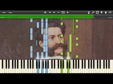 Johann Strauss II - The Blue Danube Waltz, Op. 314 - Synthesia Piano Solo Tutorial
