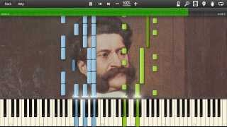 Johann Strauss II - The Blue Danube Waltz, Op. 314 - Synthesia Piano Solo Tutorial