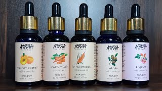 top5 bridal facial oil from nykaa | cold pressed oil | natural facial serum for winters and summer |