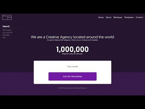Web Design Speed Art - Mockup Website in Adobe Xd - 동영상
