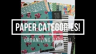 Organizing Paper into Categories