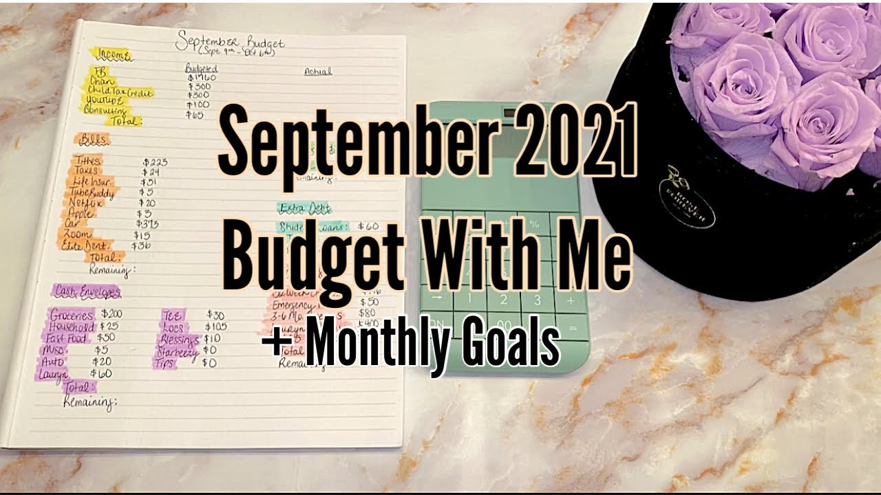 Download SEPTEMBER 2021 BUDGET WITH ME| LOW INCOME BUDGET FOR BEGINNERS| ZERO BASED BUDGET| TAYLORBUDGETS