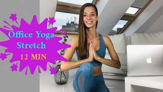 Office Yoga - 12 min  Stretch for Great Posture