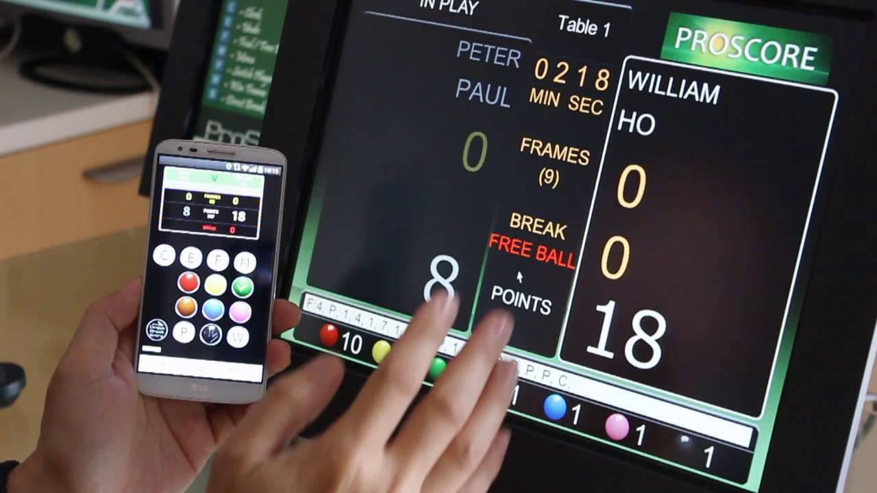 Phone Navigation For Android Phone wireless scoring and menu navigation with android phone proscore snooker billiards scoreboard