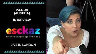 ESCKAZ in London: Interview with PÆNDA (Austria at the Eurovision 2019)