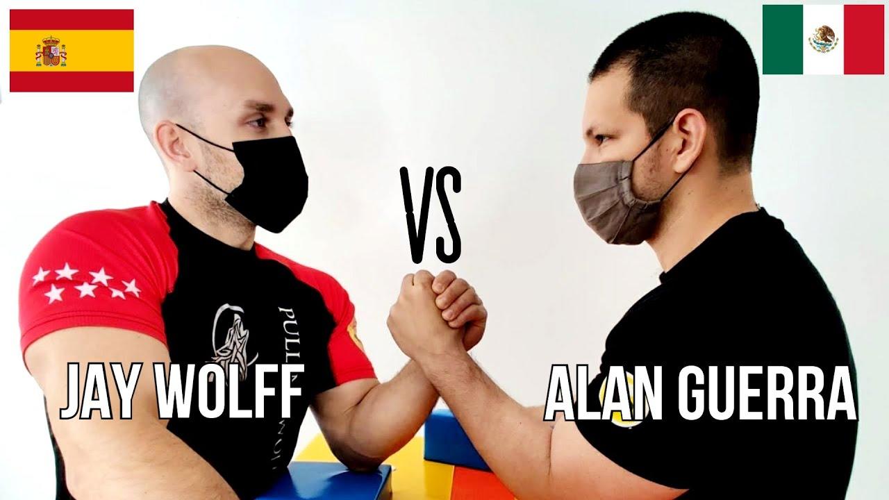 Alan GUERRA vs Jay WOLFF | MEXICO Vs ESPAÑA | Lucha de Brazos en Español