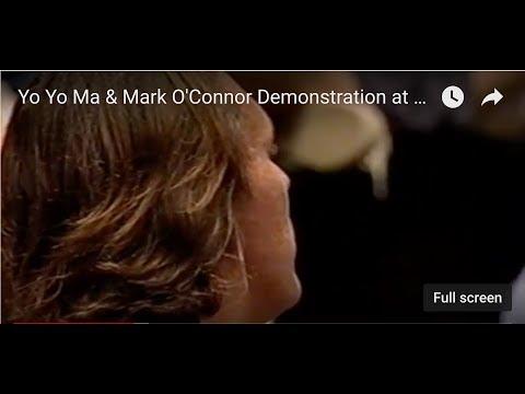 Yo Yo Ma & Mark O'Connor Demonstration at Tanglewood