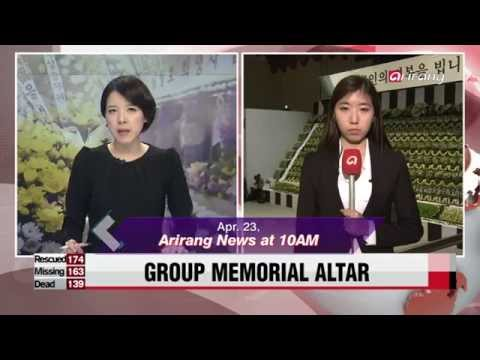 In the Newsroom-A - Ep112C05 Temporary incense alter Ansan Olympic Memorial Hall