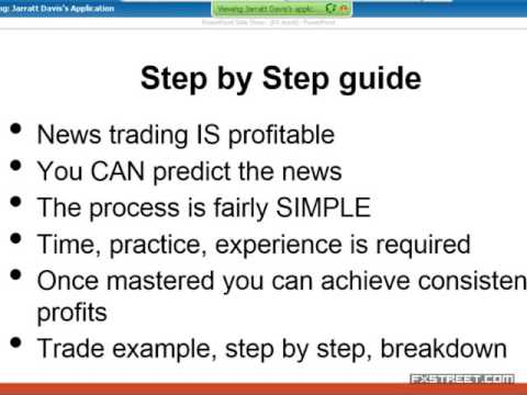 Jarratt Davis: How to trade the news