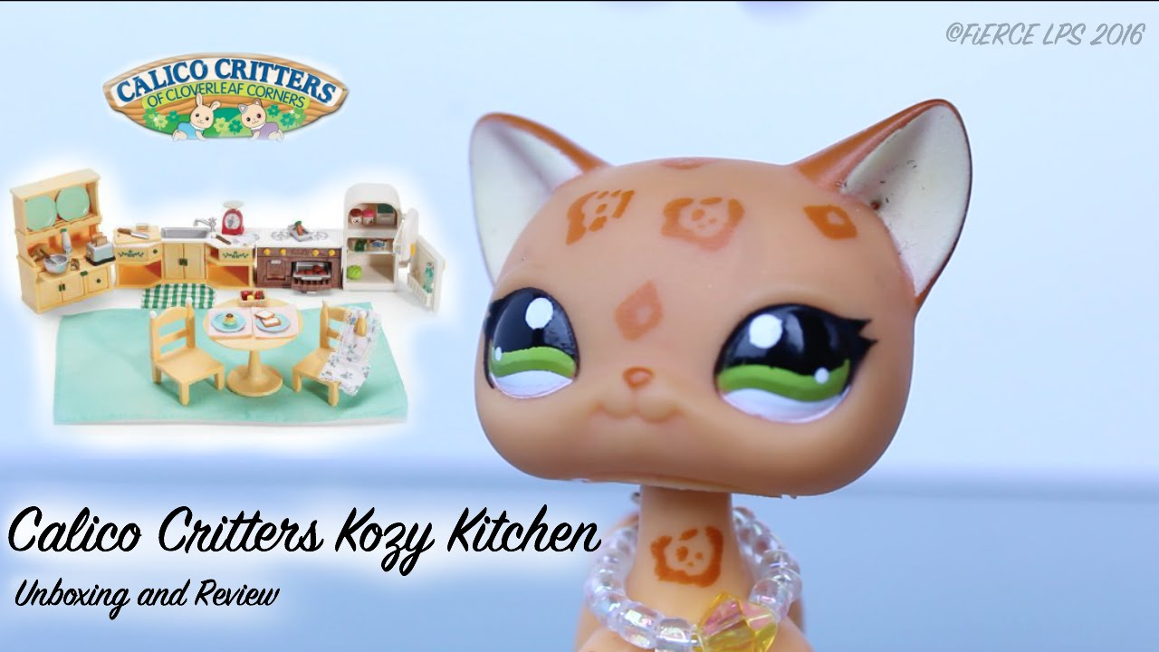 Calico Critters Kozy Kitchen Set (Unboxing and Review) - YouTube