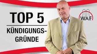 TOP 5 Kündigungsgründe: Die häufigsten Gründe für eine Arbeitnehmer Kündigung ❌❌