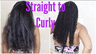 Watch My Hair Revert Back to Curly! (+Trim & Deep Condition for Healthy Natural Hair)