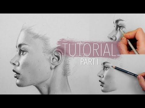 How to draw, shade, blend realistic skin Part 1 | Step by St