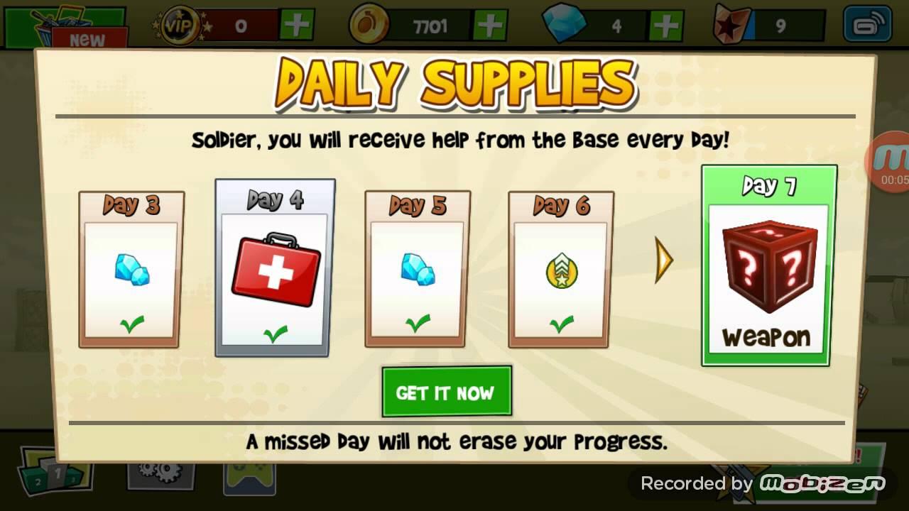 Blitz Brigade Daily Reward | 7 day - YouTube