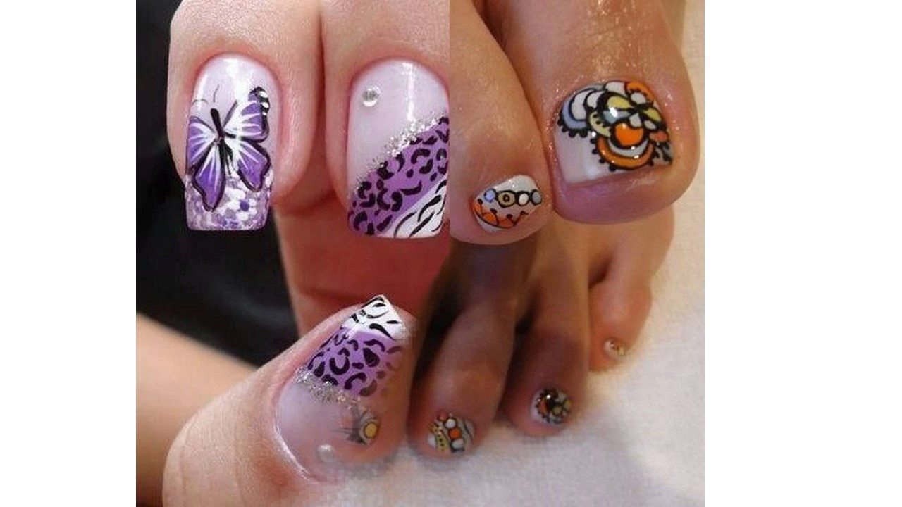 Uñas Decoradas A Mano Con Dibujos De Animales Youtube