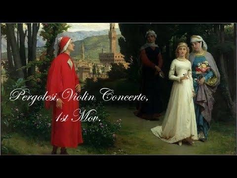 Pergolesi, Violin Concerto, 1st Mov. (Allegro), Pina Carmirelli