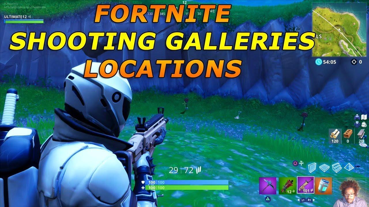 Shooting Galleries Locations Fortnite Season 6 Week 4 Challenges