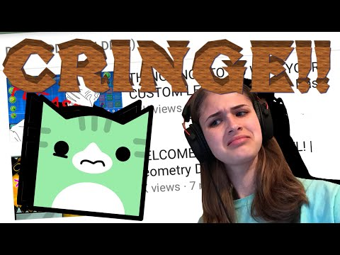 REACTING TO MY OLD VIDEOS W/FACECAM! | 8K SPECIAL | Geometry Dash Juniper