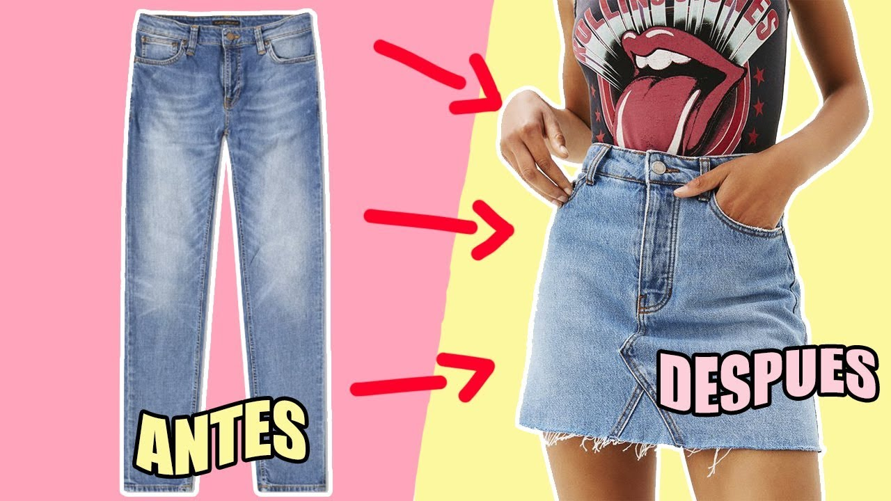 Como Hacer Una Falda Con Un Pantalon De Jean - Idea de Hacer