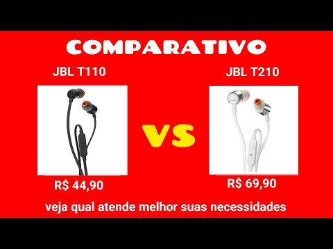 Review comparativo JBL T110 VS JBL T210