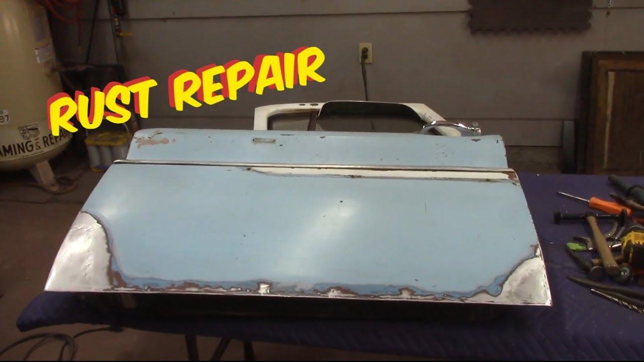 Rust Sheet Metal >> Door bottom rust repair Chevy c10 - YouTube