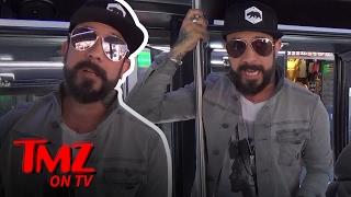 AJ McLean Jumps On The TMZ Celebrity Tour | TMZ TV