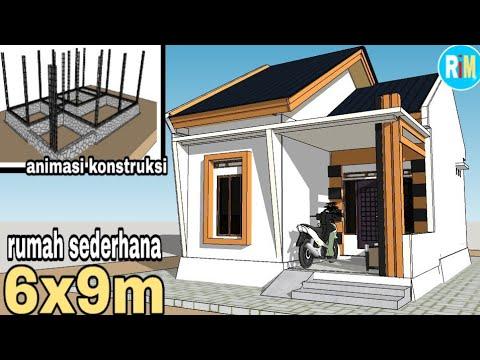 Desain Rumah Sederhana Ruang Multi Fungsi 6x9 M - YouTube